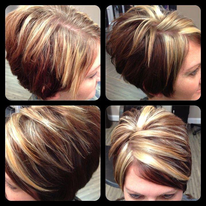 | Short hair styles, Hair highlights and lowlights, Chunky ...