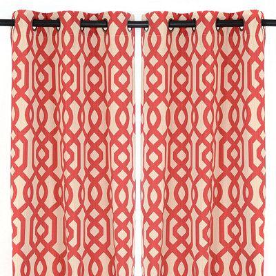 red grommet gatehill curtain panel set