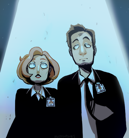 fan art by muffinpines, tumblr  Mulder Scully The X-Files