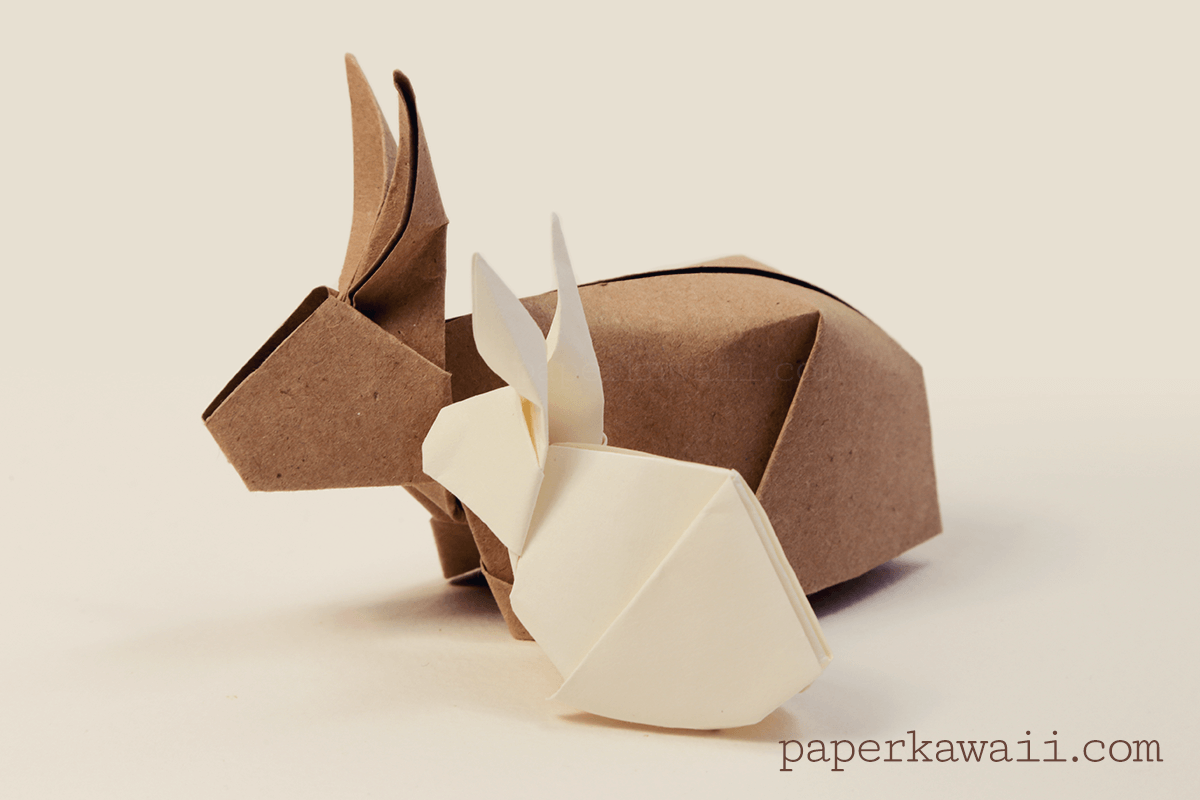 origami bunny rabbit tutorial ostern fr hling und papierkunstwerk. Black Bedroom Furniture Sets. Home Design Ideas