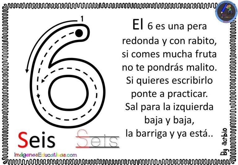 La Canción De Los Números 6 Actividades Preescolar Matematicas Canciones Cuaderno Del Profesor