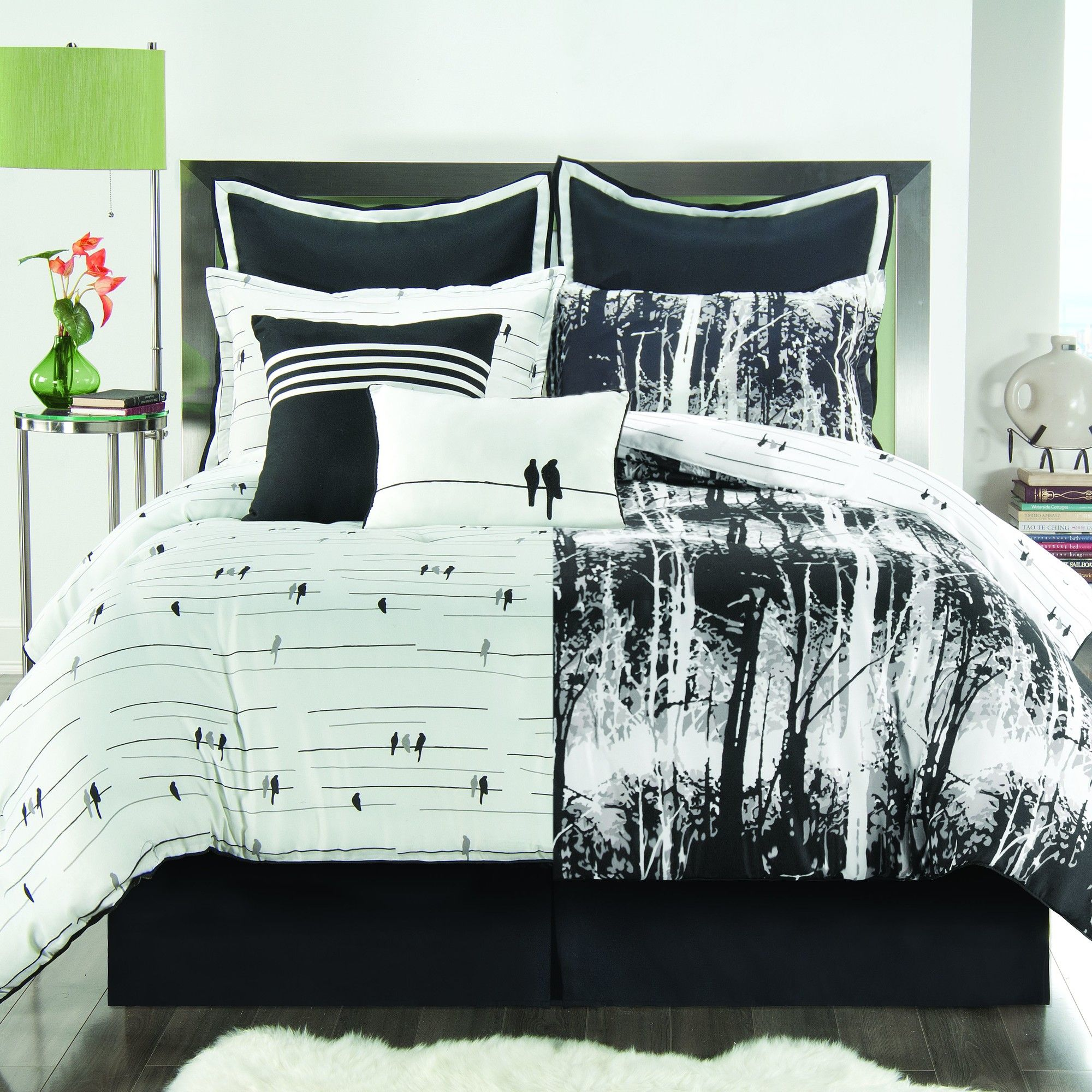 Victoria Classics Woodland Comforter Set  Birds on wires on one side, woodland on the other.  Perfect for the outdoorsy master!