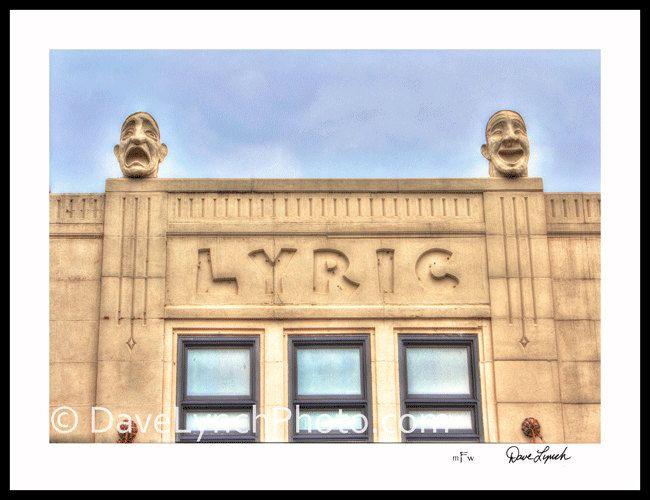 Lyric Theatre - c 1930 - Art Print - Virginia Tech - Blacksburg VA ...