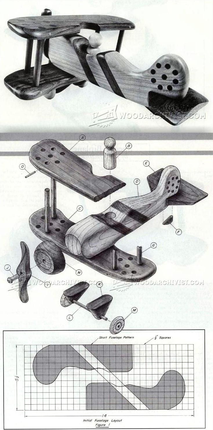 wooden biplane plans - wooden toy plans and projects