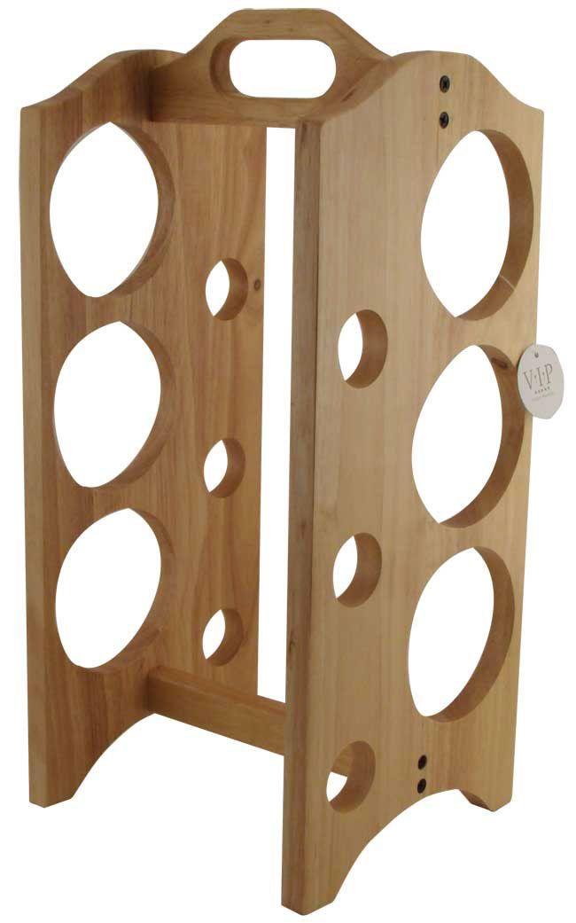 Vertical wine rack for slanted wine bottles. The shape and ...