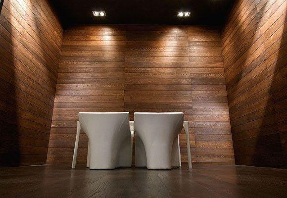 Paredes revestidas de madera decoraci n y ambientes for Paneles de pvc para paredes