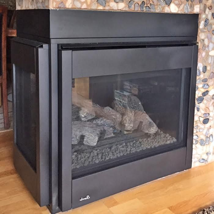 Superior 3 Sided Gas Fireplace For Blowers In Masonville Co Gas Fireplace Fireplace Kitchen Appliances