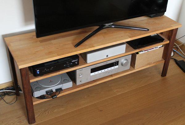 Fabrication Du0027un Meuble TV En Bois Avec Des Panneaux En Aulne U0026 Noyer  Découpés