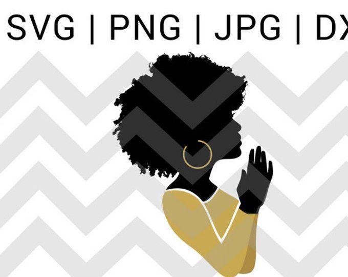 Download praying hands svg praying woman svg file black woman pray ...