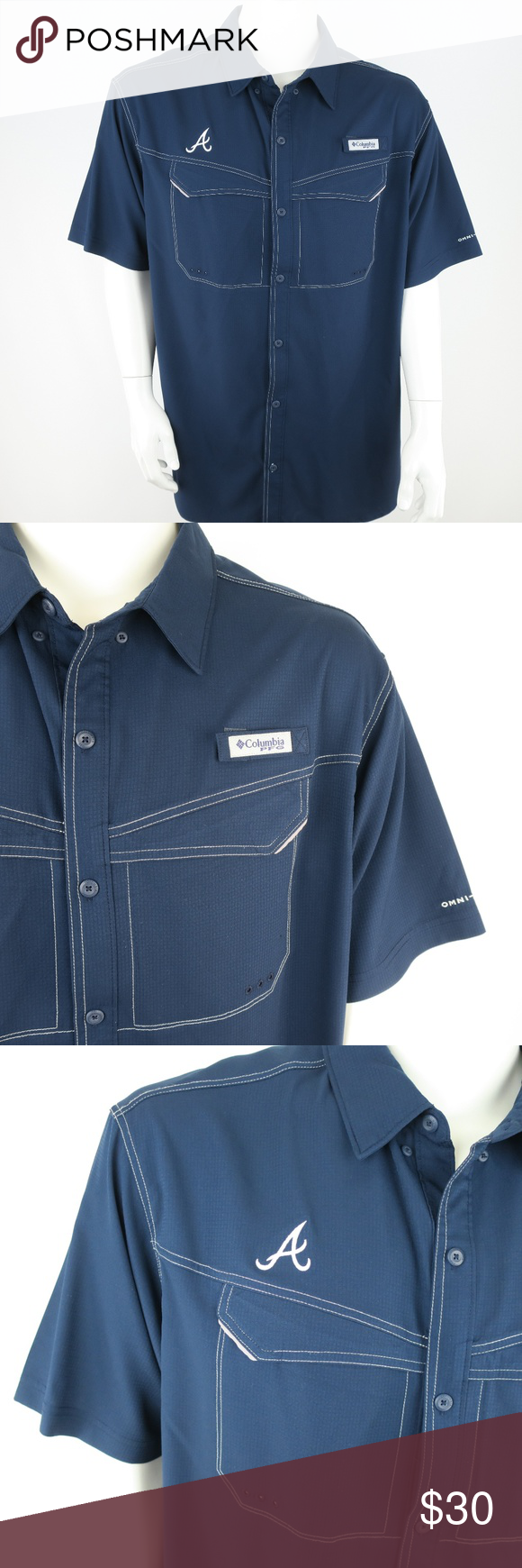 online retailer 632bd 362ba Columbia PFG Men's Vented Fishing Shirt Atlanta Br Columbia ...