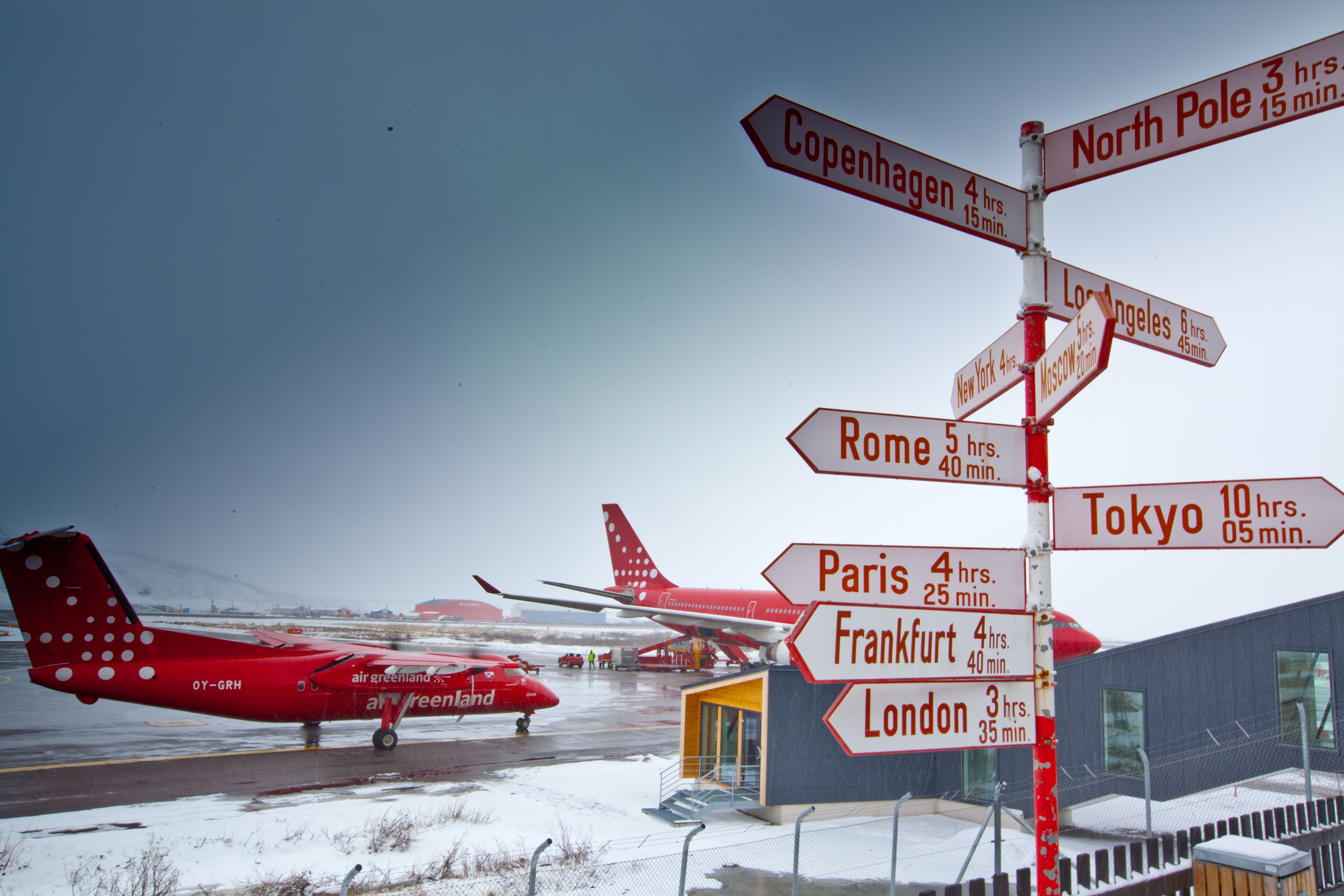 Kangerlussuaq Airport (Greenland) Distance indicator