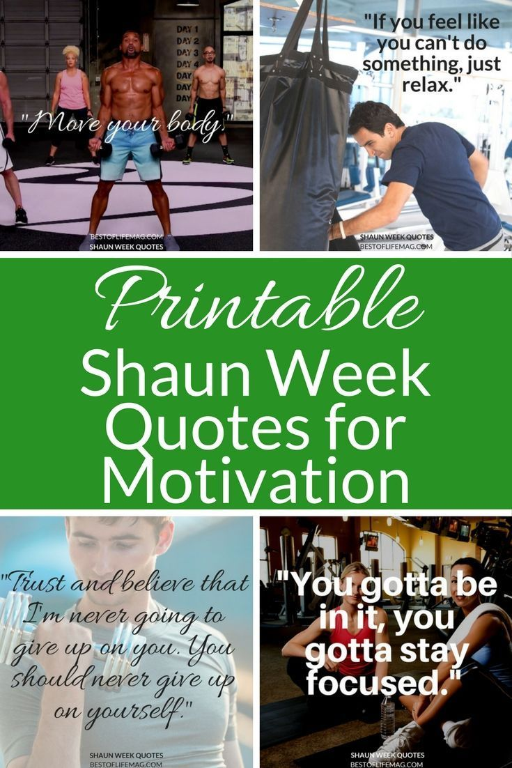 Printable Shaun Week Quotes for Workout Motivation