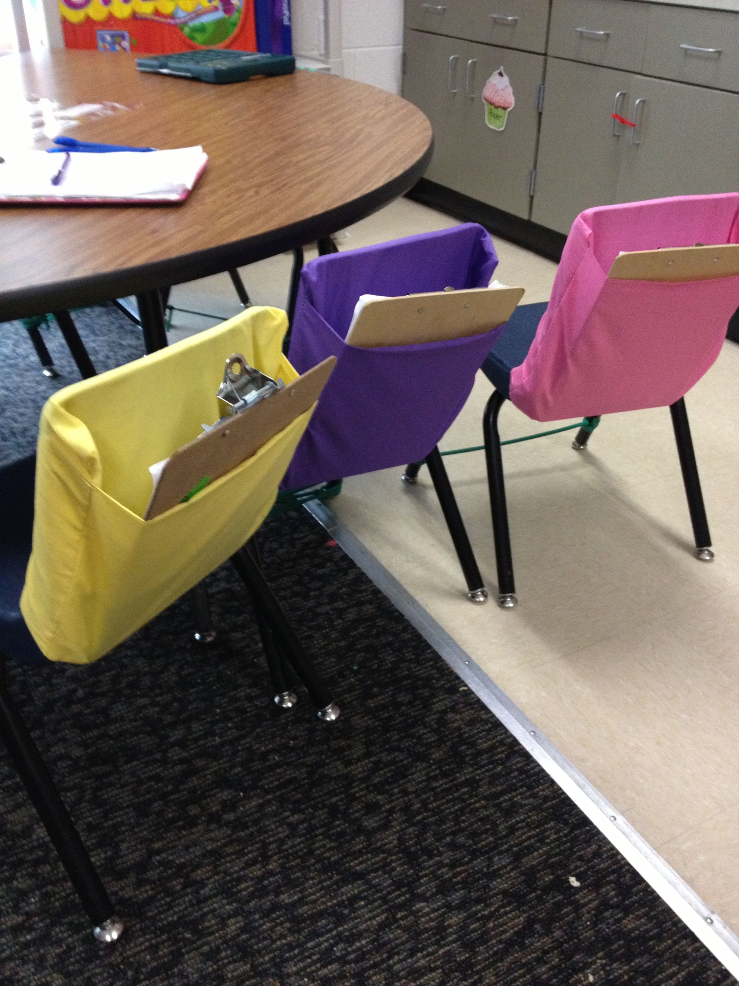 Classroom Chair Covers With Pocket Contemporary Recliner Easy Diy Pockets Ms Layne 39s Room Pinterest