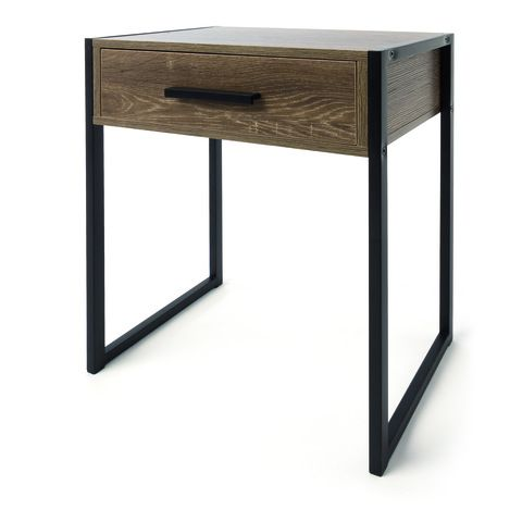 Industrial Reclaimed Wood Bedside Table Furniture Fitted