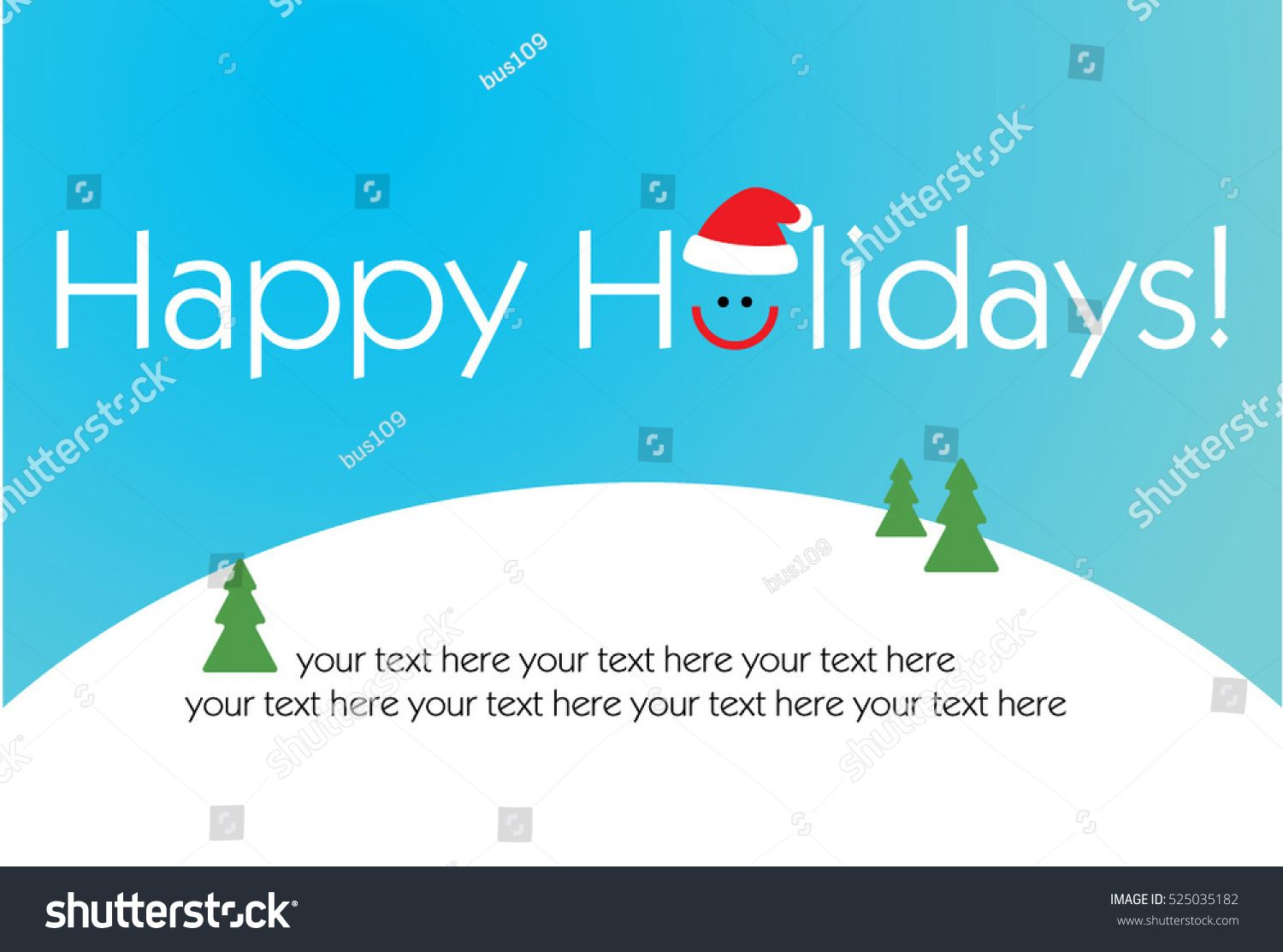 2019 Happy New Year Happy Holidays Card Text Design With Smile And Santa Hat Vector Illustration Ad Affil Happy Holiday Cards Text Design Happy New Year