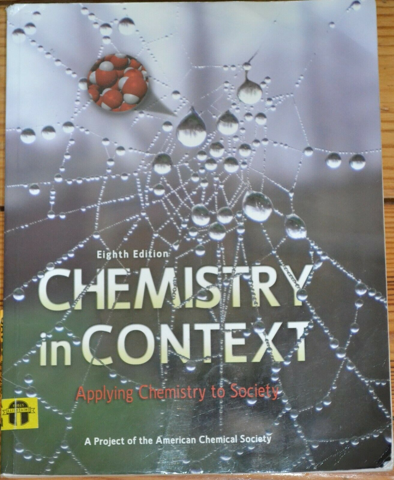 Chemistry In Context By American Chemical Society Isbn 978 0 07 352297 Education Textbook Forsale Good Books Books Chemistry