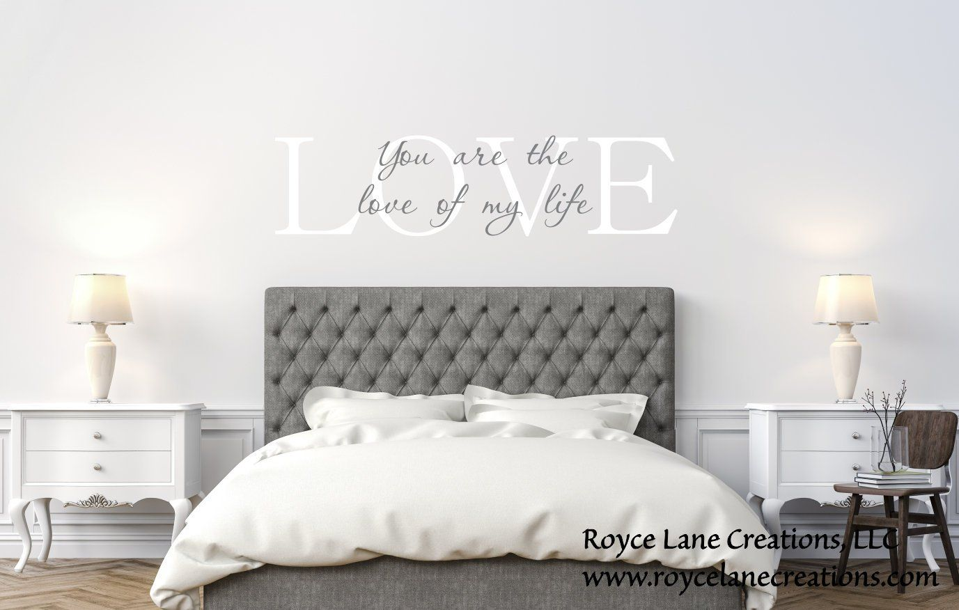 Love Quote Decal / Love of My Life Decal / Bedroom Quotes / Vinyl