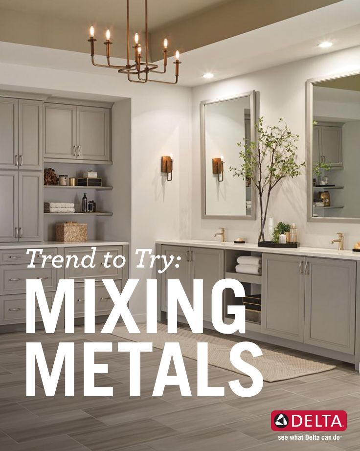 Photo of Trend to Try: Mixing Metals | Delta Faucet Inspired Living