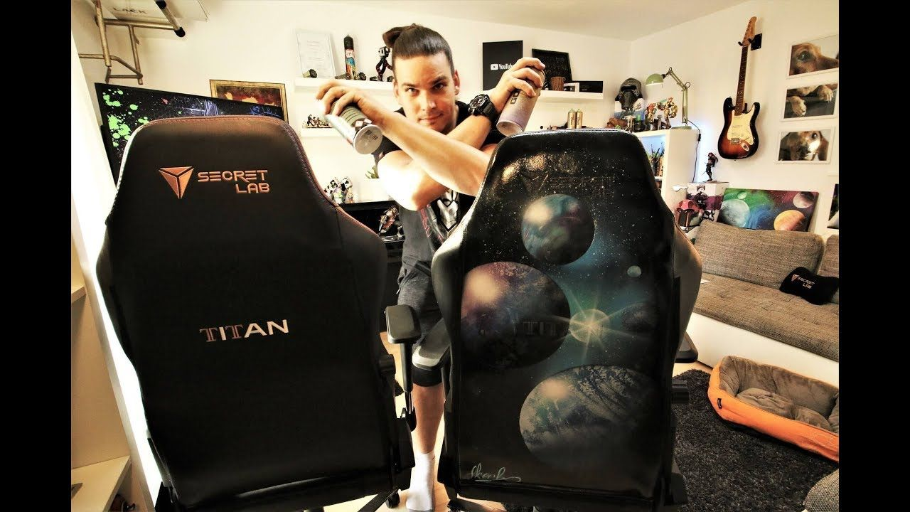 SPRAY PAINTING ON 500 CHAIR TITAN Secret LAB GAMING