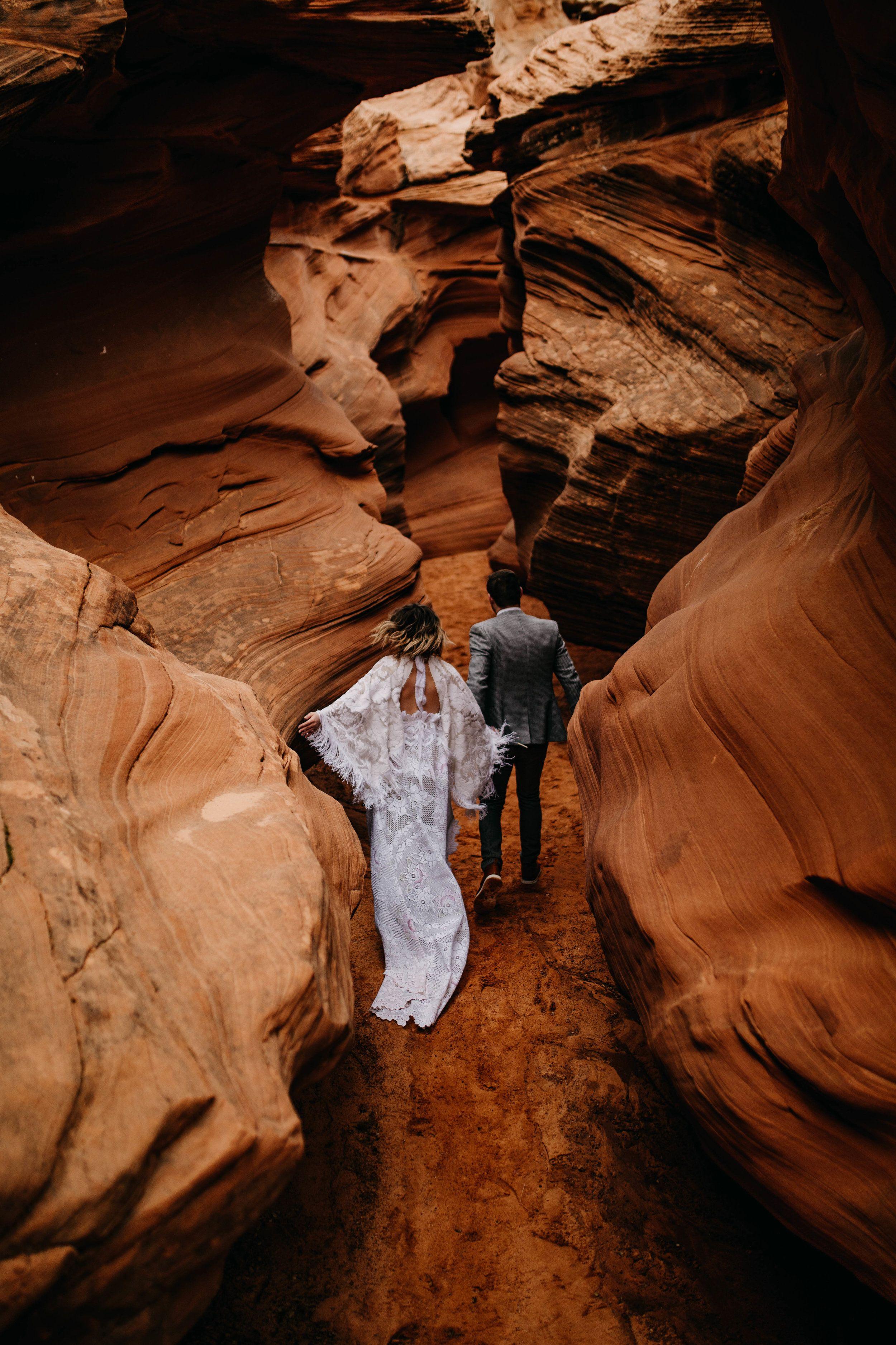 Arizona Desert Slot Canyon Elopement Grand canyon