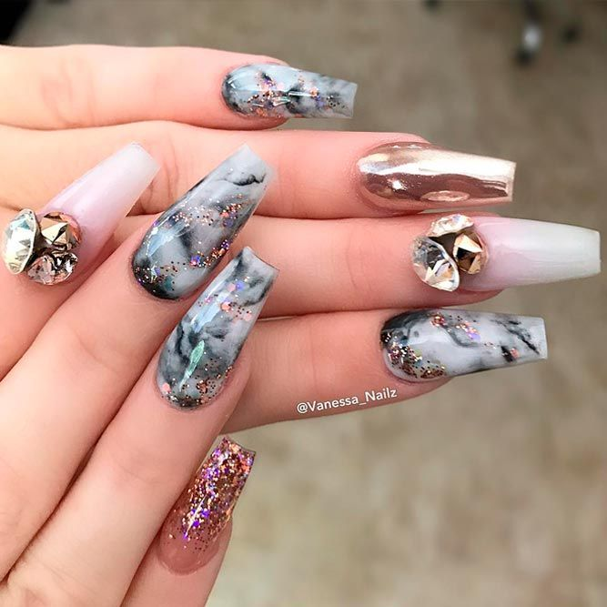 Coffin Nails Ideas For Enchanting Look Naildesignsjournal Com Stylish Nails Coffin Nails Designs Nail Designs