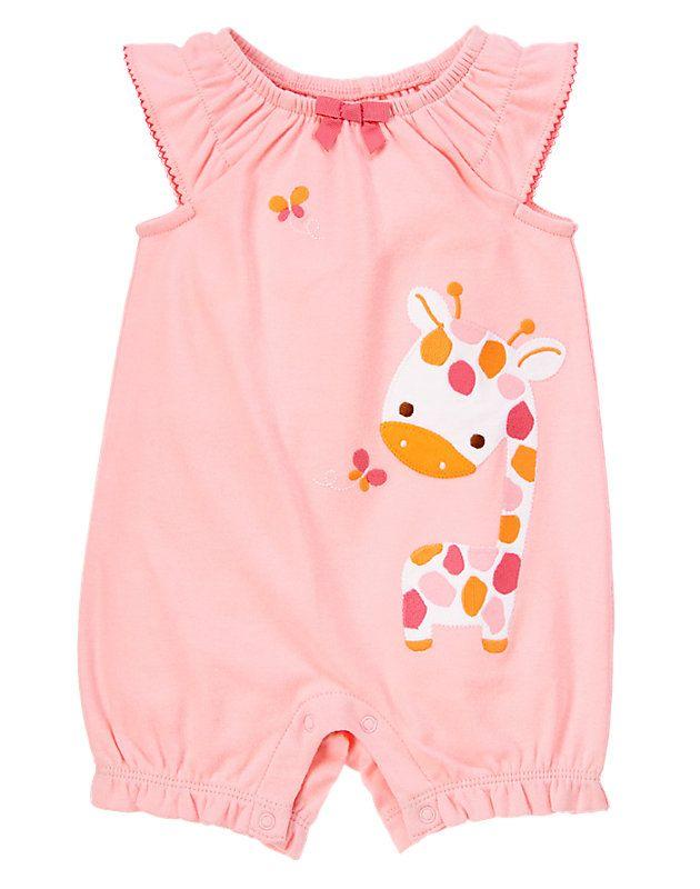factory price 58d6f 2e570 Gymboree Giraffe and Butterfly Bubble | desen | Newborn girl ...