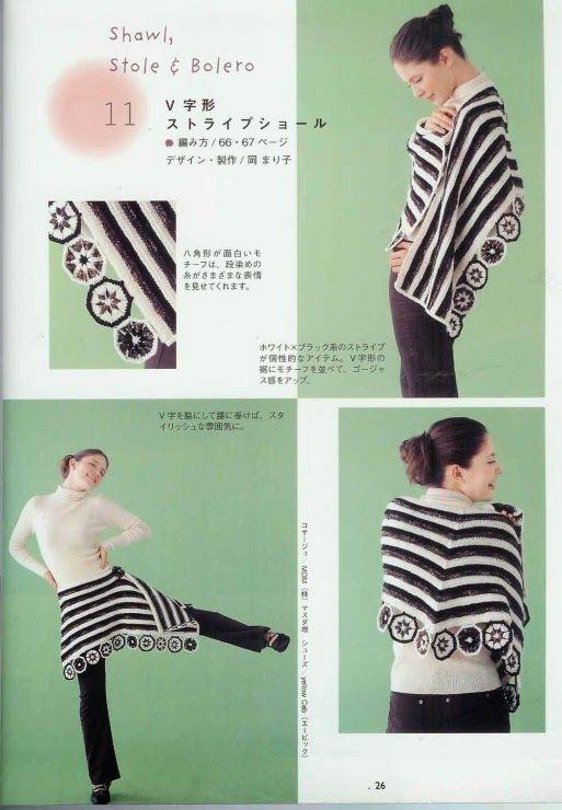 Patrones Crochet: CHAL | Häkeln Stola | Pinterest | Stola und Häkeln