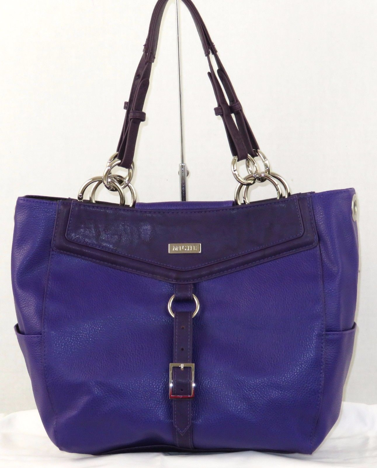 Miche Handbag Demi Base Bag Purse Purple Tristan Shell Straps And Carabiners