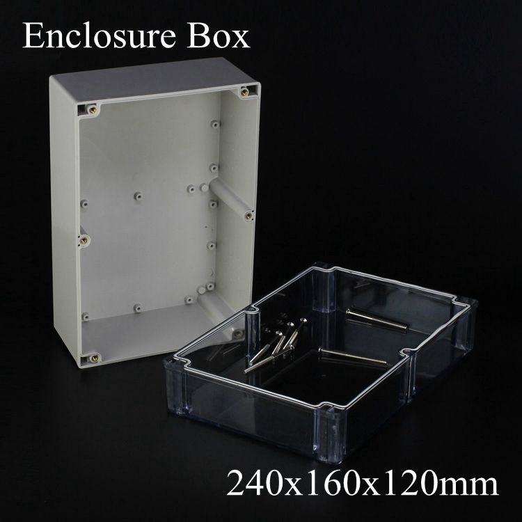 240 160 120mm Enclosure Pcb Plastic Distributoin Project Box Waterproof Junction Box With Transparent Clear Cover 240x160x120mm In Junction Boxes Box Projects