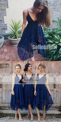 Unique Lace  Bridesmaid Dresses, Lovely Wedding Guest Dresses, Bridesmaid Dresses, PD0440 #lacebridesmaids