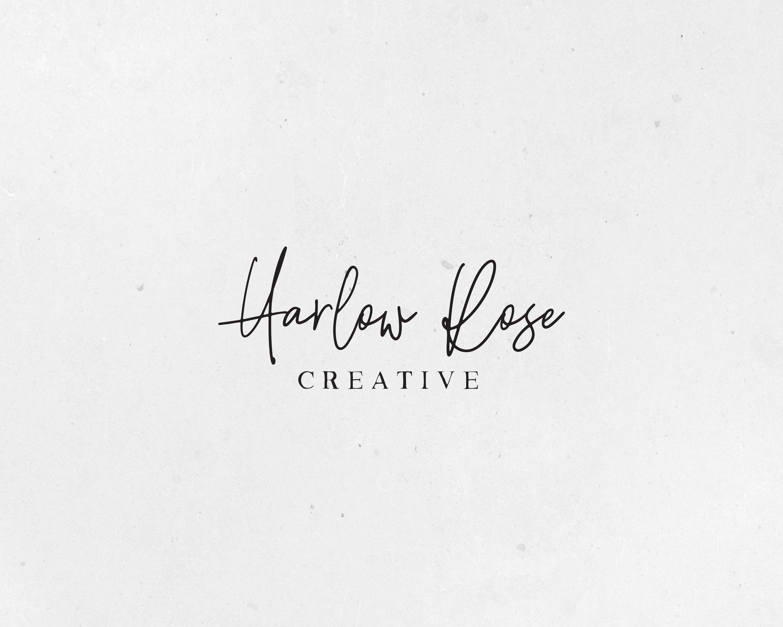 Premade Logo Text Logo Handwritten Logo Brush Script Logo Name