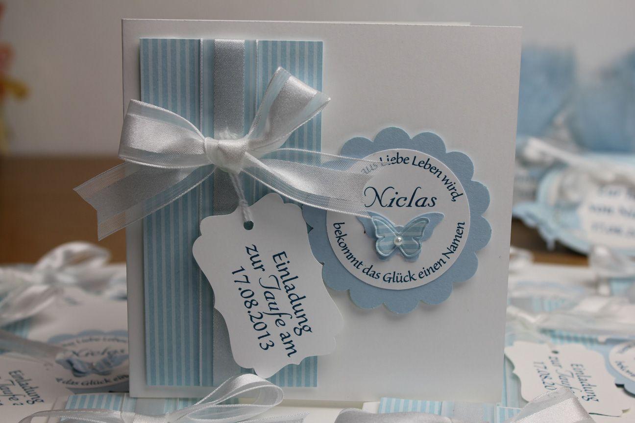 Einladung Zur Taufe Stampin Up Babykarten