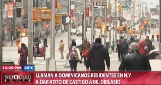 Llaman A Dominicanos Residentes En NY A Dar Voto De Castigo Al Alcalde Bil Diblasio #Video