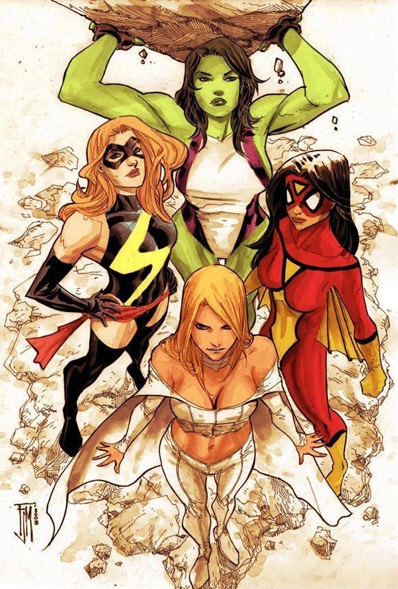 Resultado de imagen de she hulk y spider woman