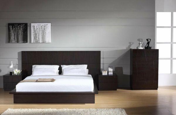 moderne wandfarben minimalistische einrichtung schlafzimmer - einrichtung schlafzimmer modern