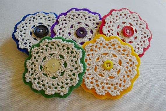 Upcycled Eco Vintage Crochet Doily Jewellery by spiritfiredesigns, $12.00