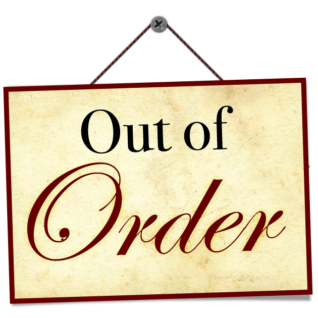 For Behind My Deaf Ear Out Of Order Sign Sign Templates Signs