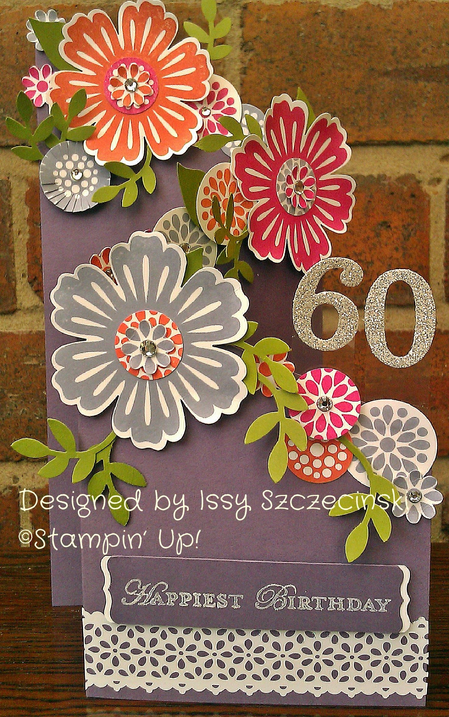A 60th birthday card using stampin up mixed bunch stamp set and a 60th birthday card using stampin up mixed bunch stamp set and blossom punch kristyandbryce Image collections