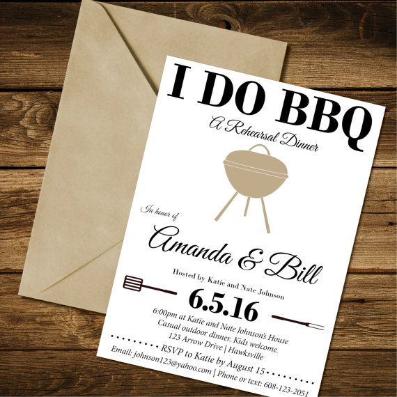 Ideas For Wedding Rehearsal Dinner: I DO BBQ Rehearsal Dinner Invite