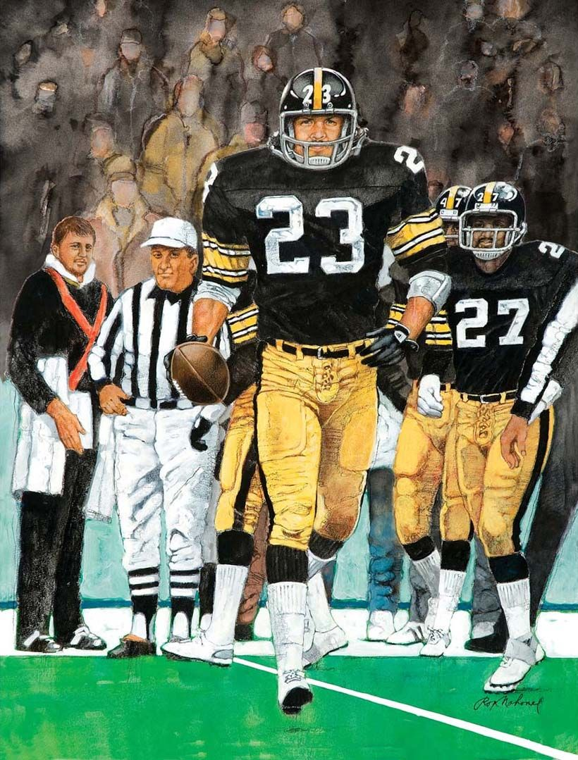 96ca55255 Mike Wagner, Pittsburgh Steelers painted by Ron Mahoney | Sports Art ...
