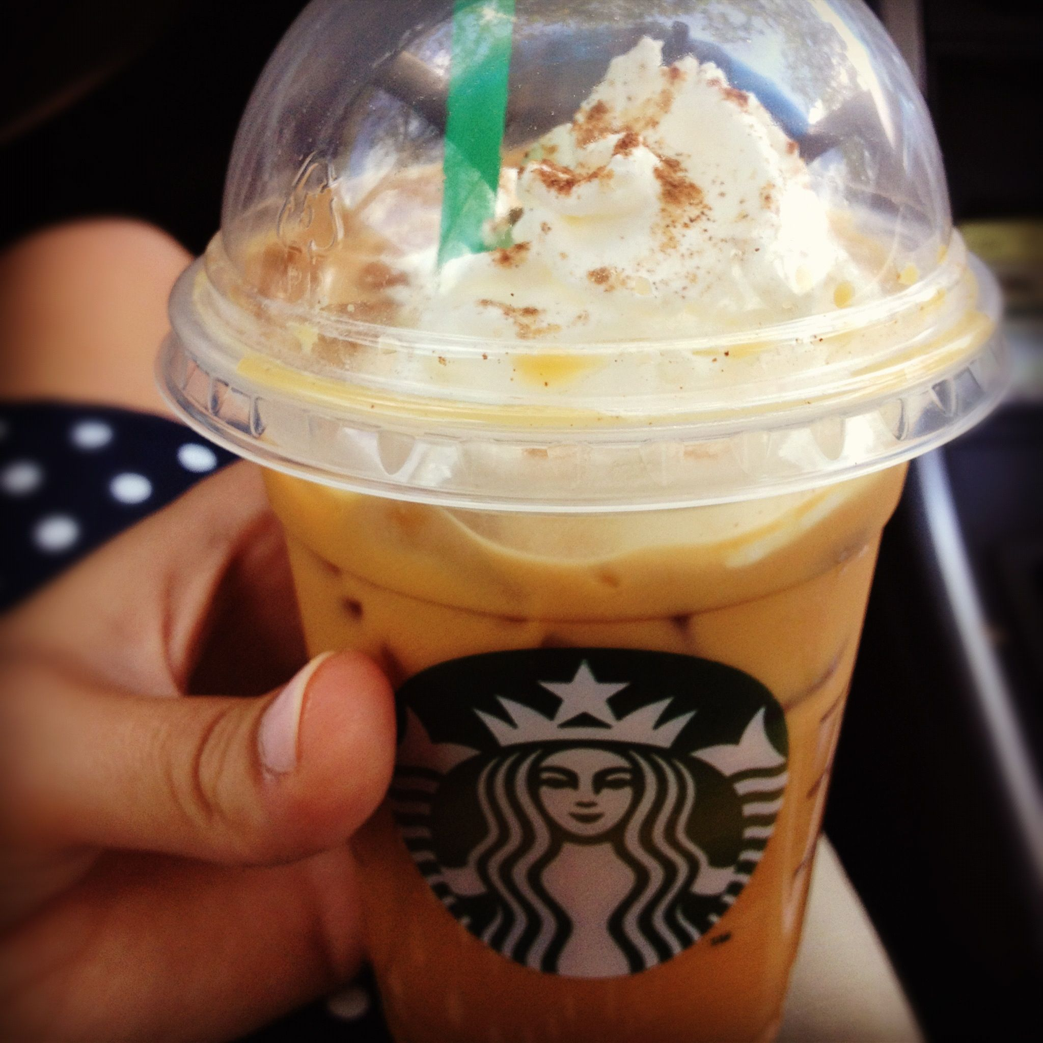 Iced Pumpkin Spice Lattes @ Starbucks. Only Available