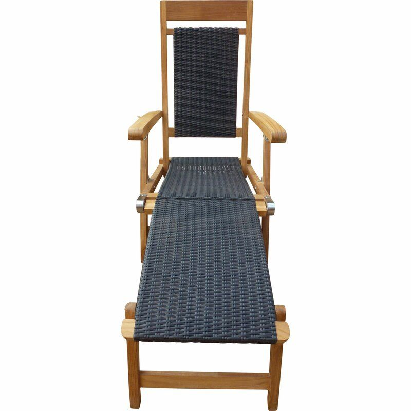 Teak Steamer Chair Wayfair In 2020 Teak Chaise Lounge Teak Patio Lounge