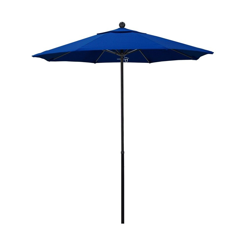 7 5 Aluminum Pulley Patio Umbrella Blue Pacifica Products