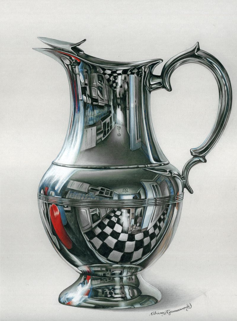 Irina garmashova cawton colored pencil internal life of the jug