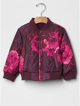 692aa03f6479 GAP Kids Floral quilted bomber jacket