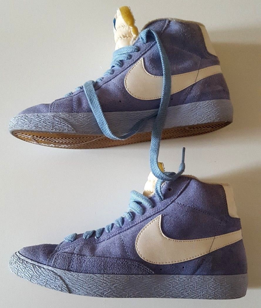 san francisco bd23d a5e33 Nike Blazer Mid Suede Vintage Light Blue High Top Size UK 5 US 7.5   eBay