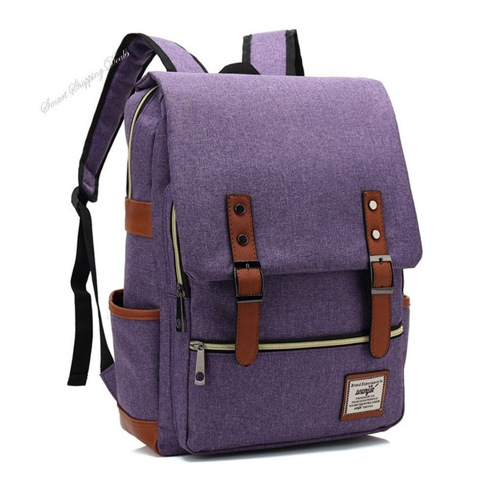Vintage Canvas Backpack School Backpacks For Girls With Laptop