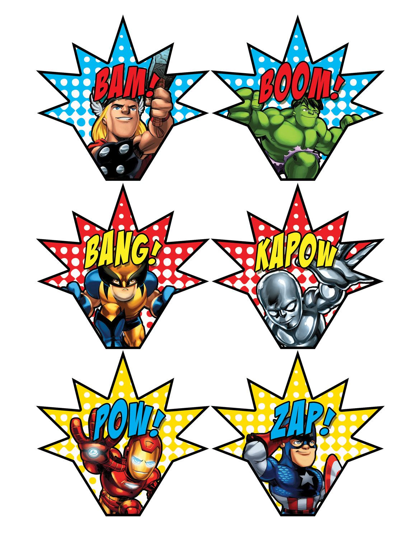Superhero Squad Cupcake Toppers | festa vingadores | Pinterest ...