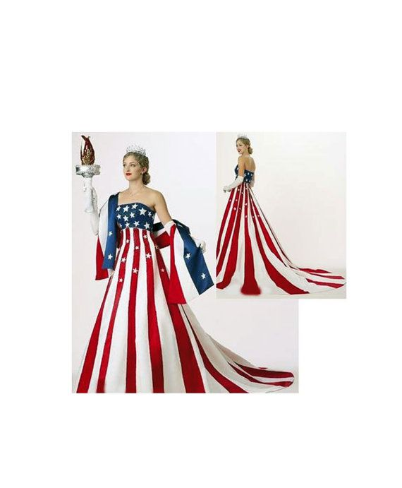 Pageant Rwb Patriotic Usa America Flag Dress Statue Of Liberty Ooc National 4 July Casual Wear American Flag Dress Flag Dress American Flag Dress Costume Dress