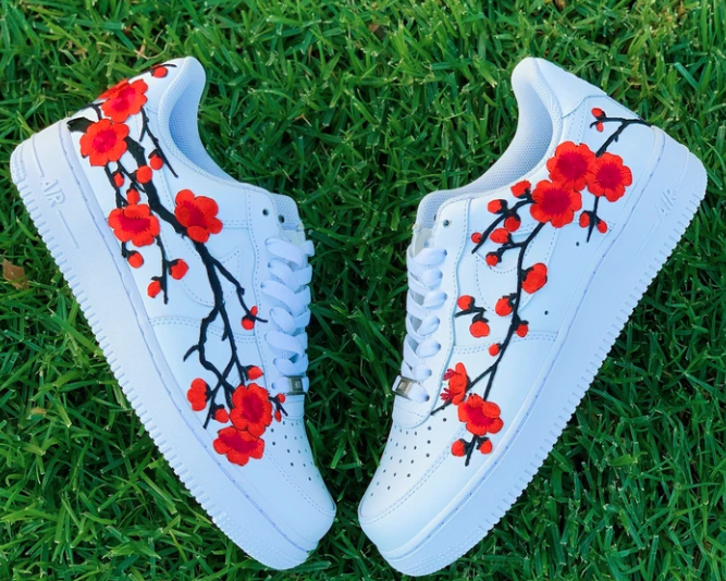 Blue Flower in 2020   Nike schuhe, Schuhe neu gestalten